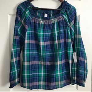 Women's Old Navy Checkered Top Large NWT